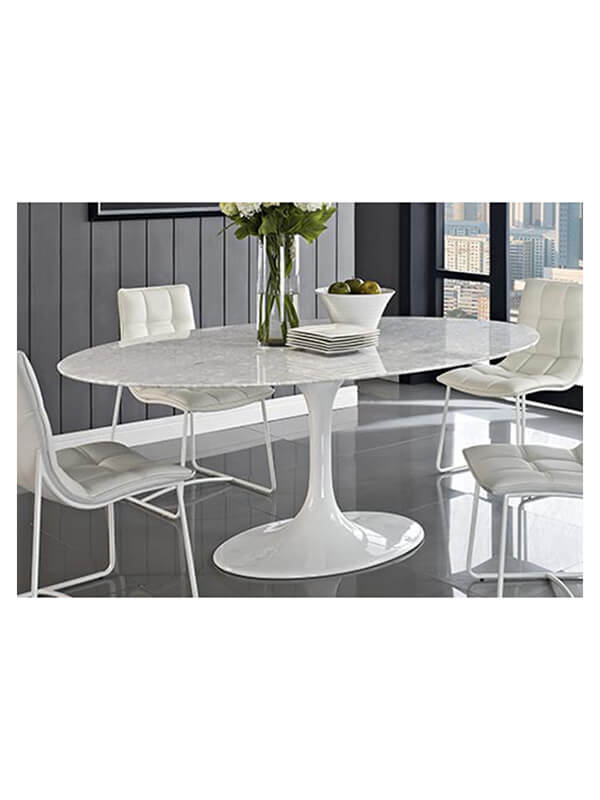 Amazing table tulip ovale knoll saarinen blanc zeeloft with table marbre ovale knoll - Table knoll ovale marbre blanc ...