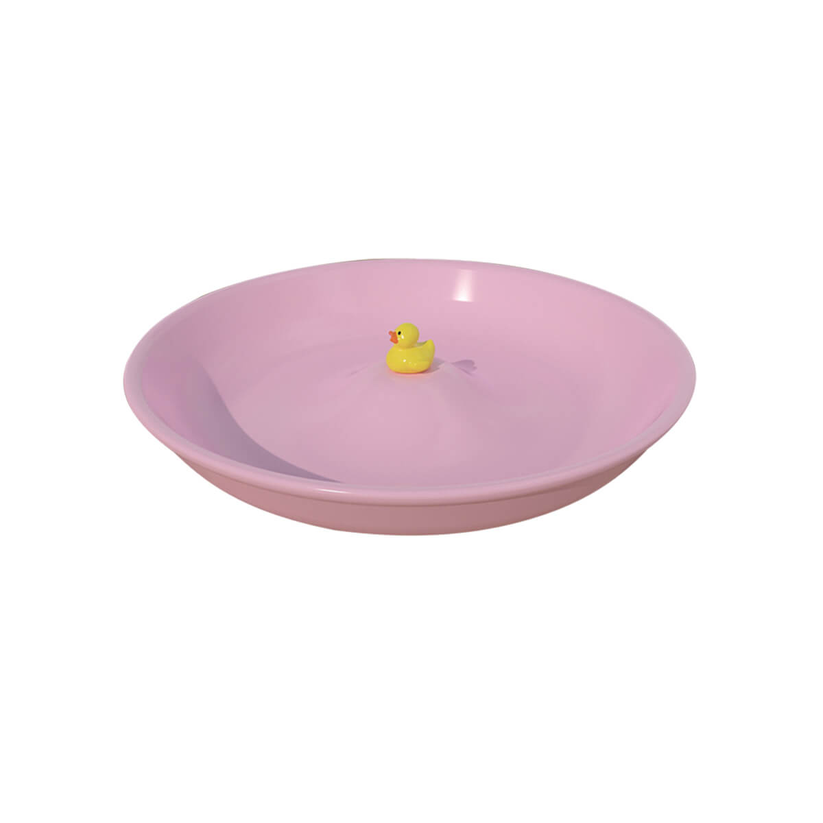assiette my baby duck plate axis71 rose zeeloft