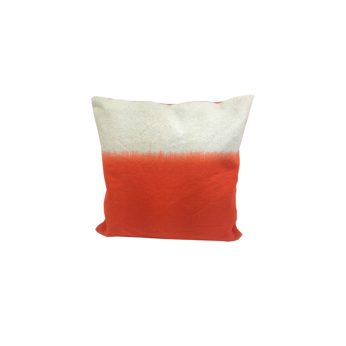 coussin tie and dye orange zeeloft