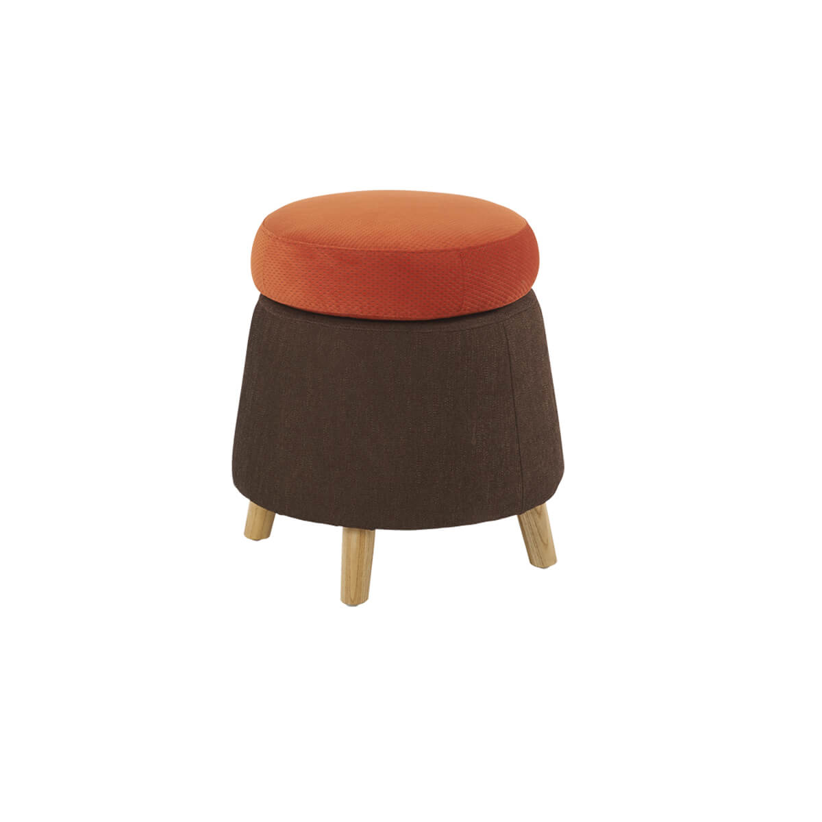 pouf wheel hanjel brun orange zeeloft