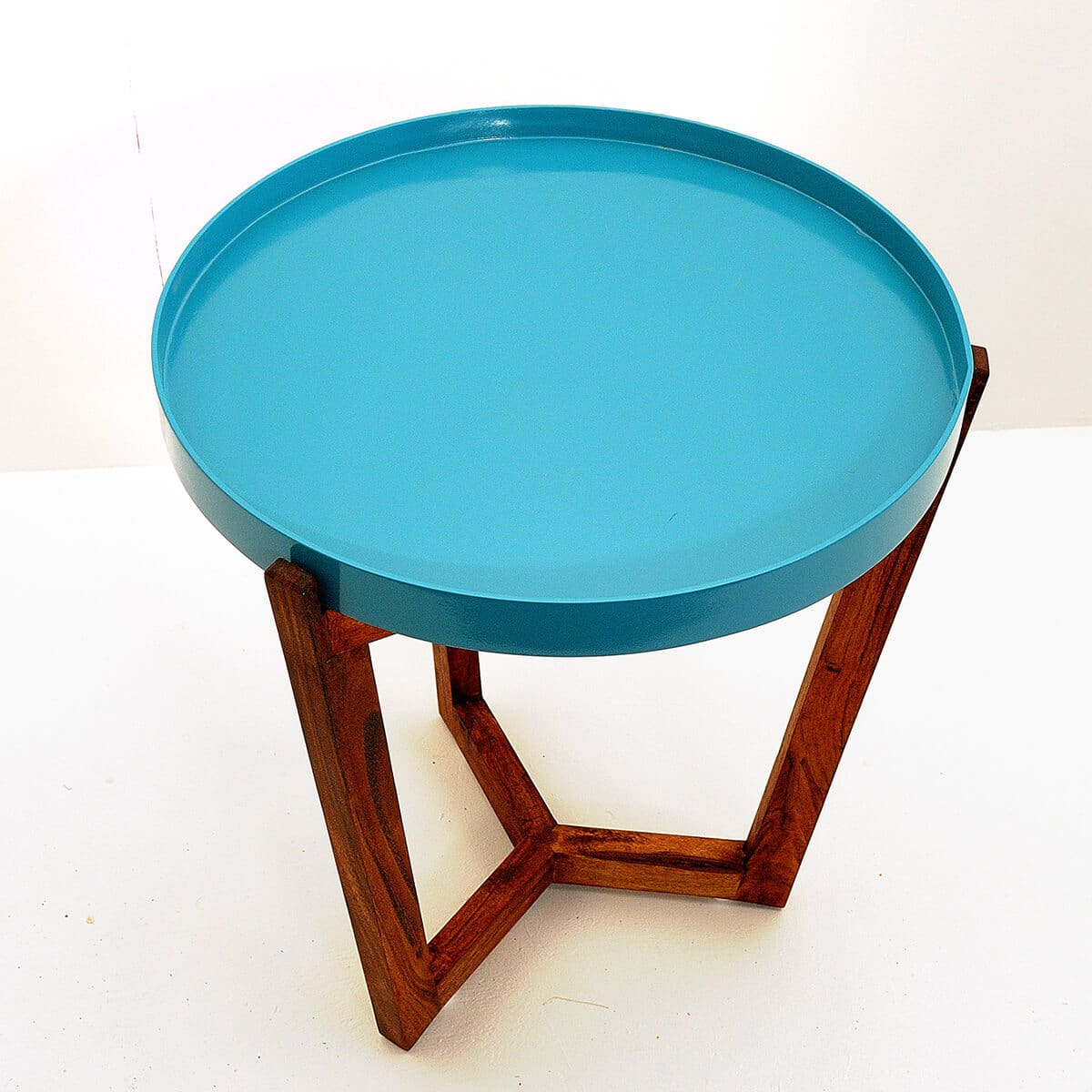 table de chevet kirsk baobab marron bleu zeeloft