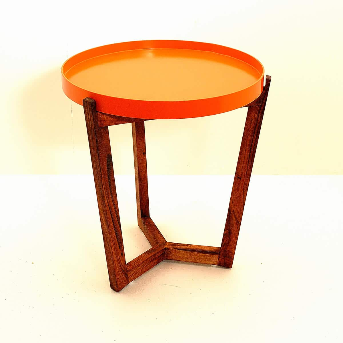 table de chevet Kirsk baobab marron orange zeeloft