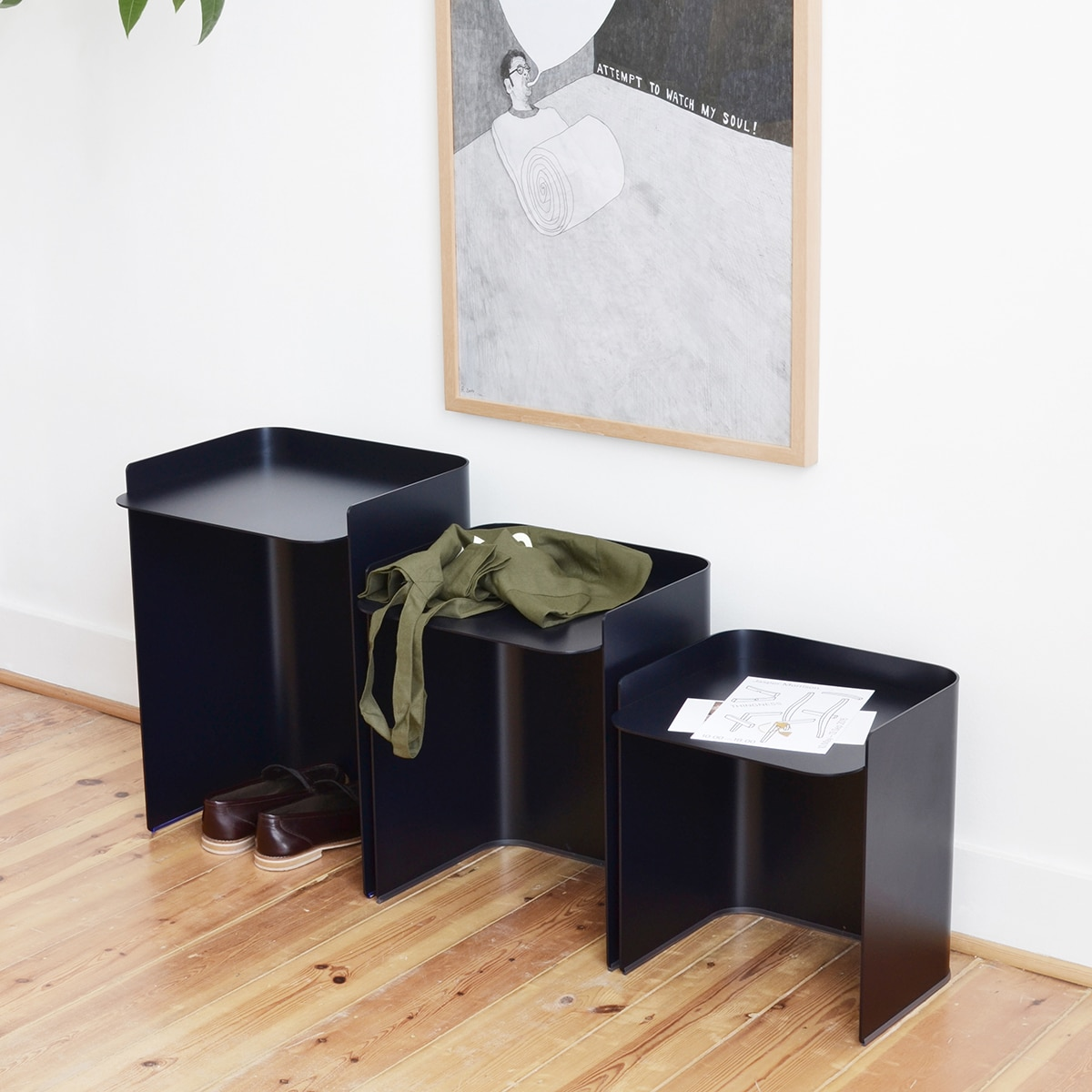table basse flor 3 mati re grise pas cher grandes. Black Bedroom Furniture Sets. Home Design Ideas