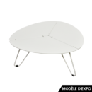table basse loo triangle craie matiere grise zeeloft