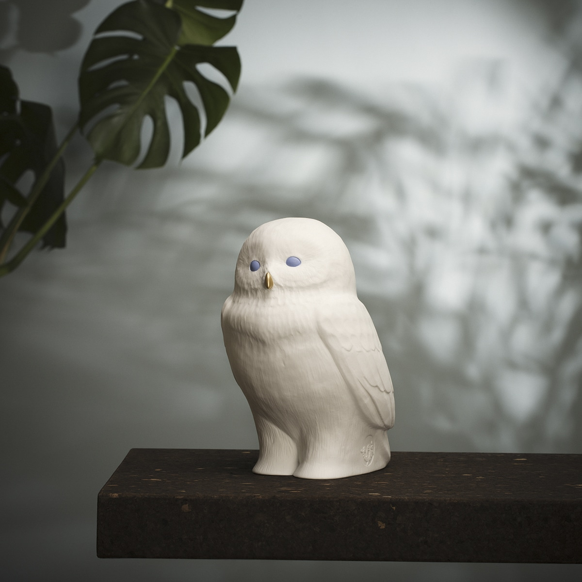 Lampe akira the owl blanc/bleu goodnight light zeeloft