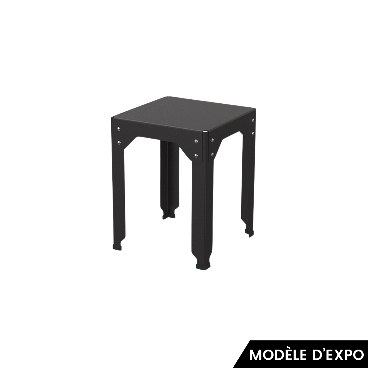 tabouret hegoa noir mat mati re grise pas cher. Black Bedroom Furniture Sets. Home Design Ideas