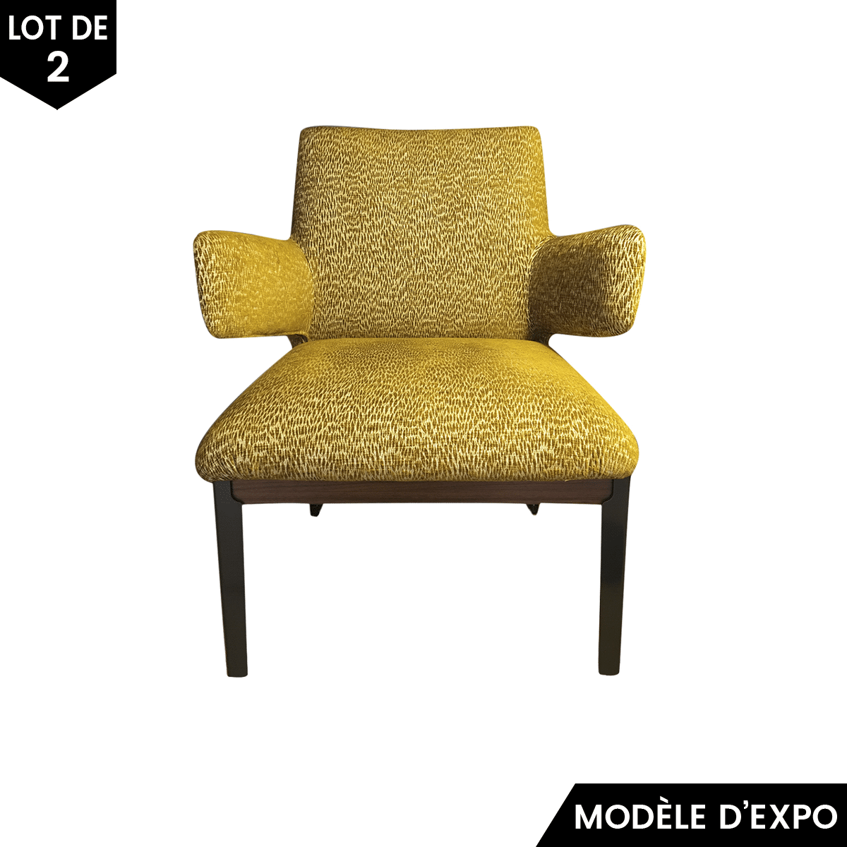 fauteuil hug jaune lot de 2 arflex pas cher grandes marques en promo sur zeeloft. Black Bedroom Furniture Sets. Home Design Ideas