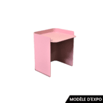 table d'appoint flor 3 rose matiere grise zeeloft