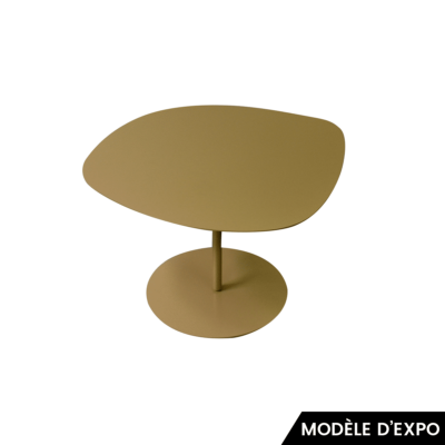 table basse 3 galets 1 or matiere grise zeeloft