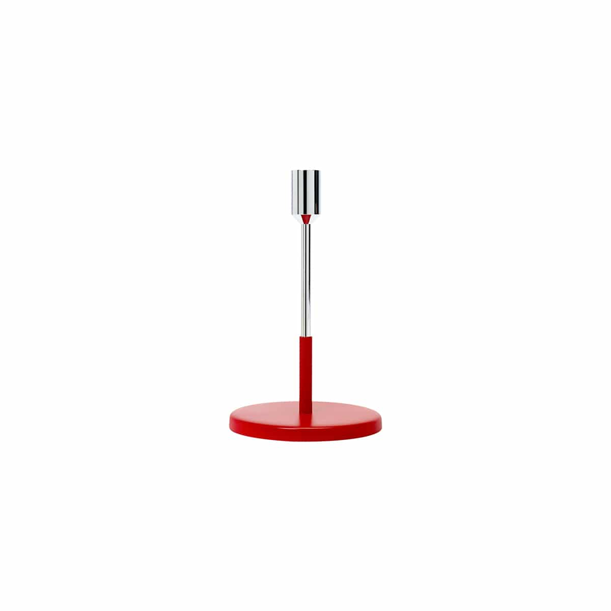 bougeoir candle holder argent/rouge jansen+co zeeloft