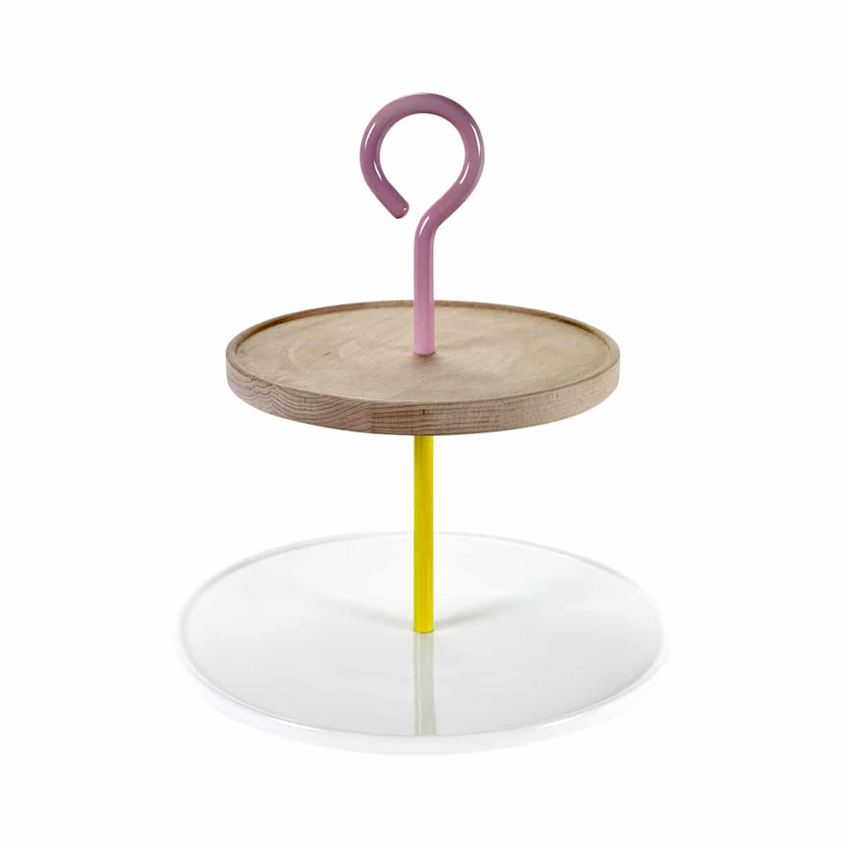 plateau two tier platter blanc (jaune/rose) de jansen+co zeeloft