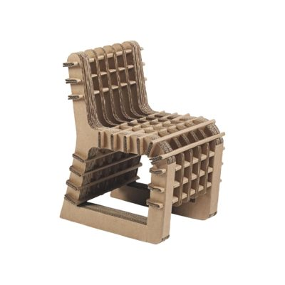 chaise build up marron de skitsch zeeloft