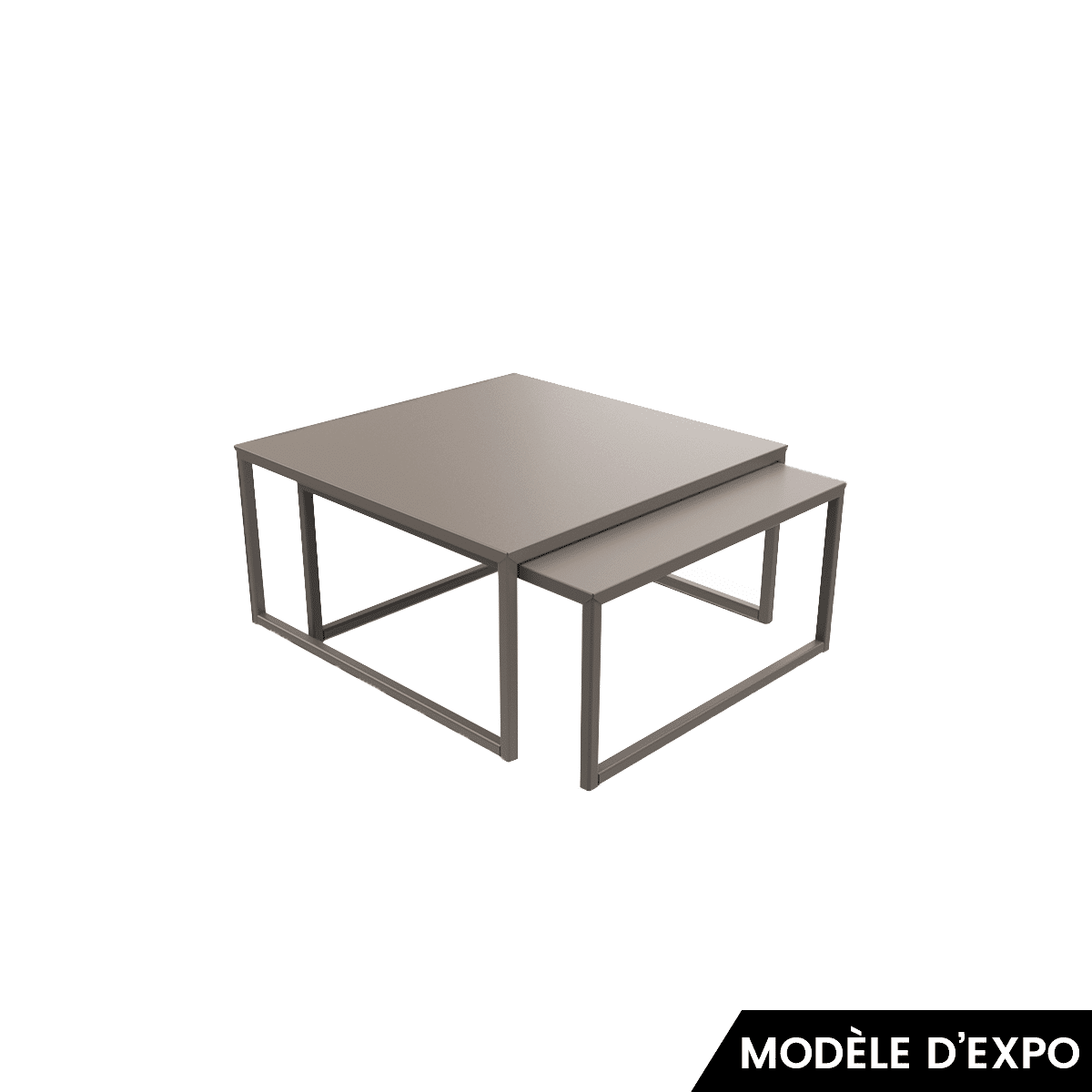 Table Taupe Basse Matière Grise Tiptop n0wkX8PO