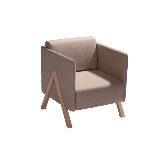 fauteuil vision taupe capdell zeeloft