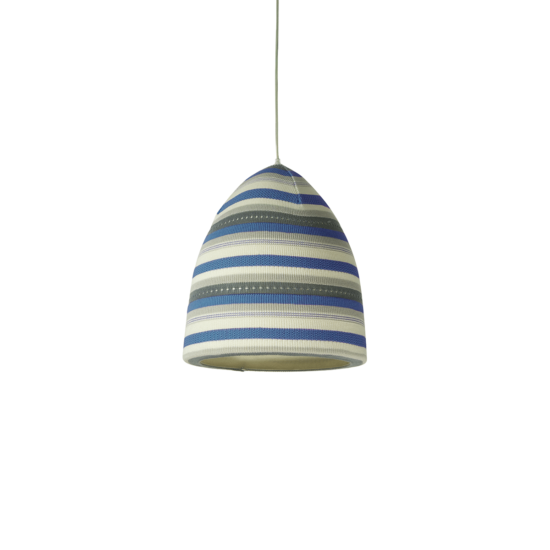 suspension flower stripe bleu inesartdesign zeeloft