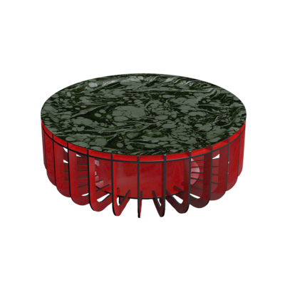 table basse medusa xl rouge ibride zeeloft
