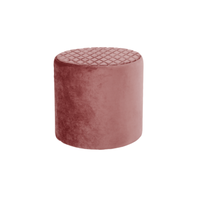 pouf velours anders rose house nordic zeeloft
