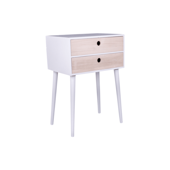 table chevet viby 2 tiroirs blanc bois house nordic zeeloft