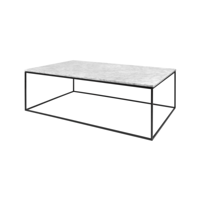 table basse gleam blanc noir l120 tema home zeeloft