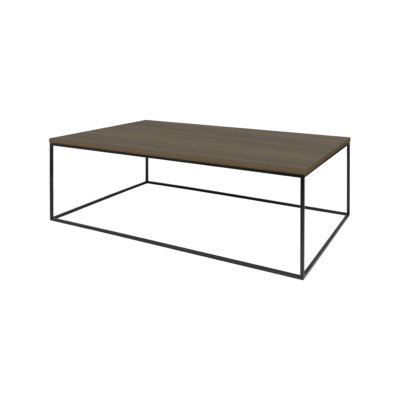 table basse gleam bois noir l120 tema home zeeloft