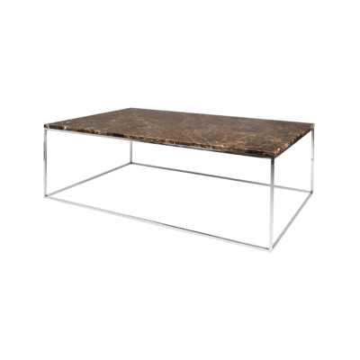 table basse gleam marron gris l120 tema home zeeloft