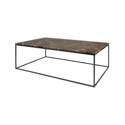 table basse gleam marron noir l120 tema home zeeloft