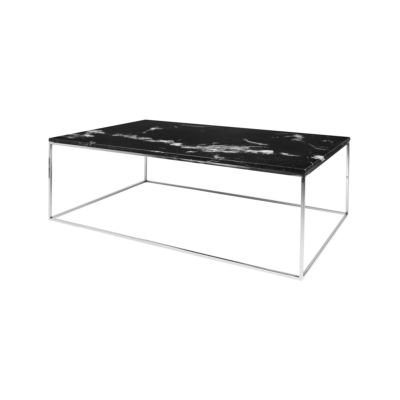 table basse gleam noir gris l120 tema home zeeloft