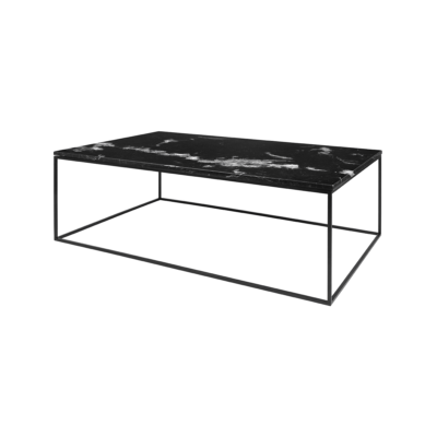 table basse gleam noir l120 tema home zeeloft