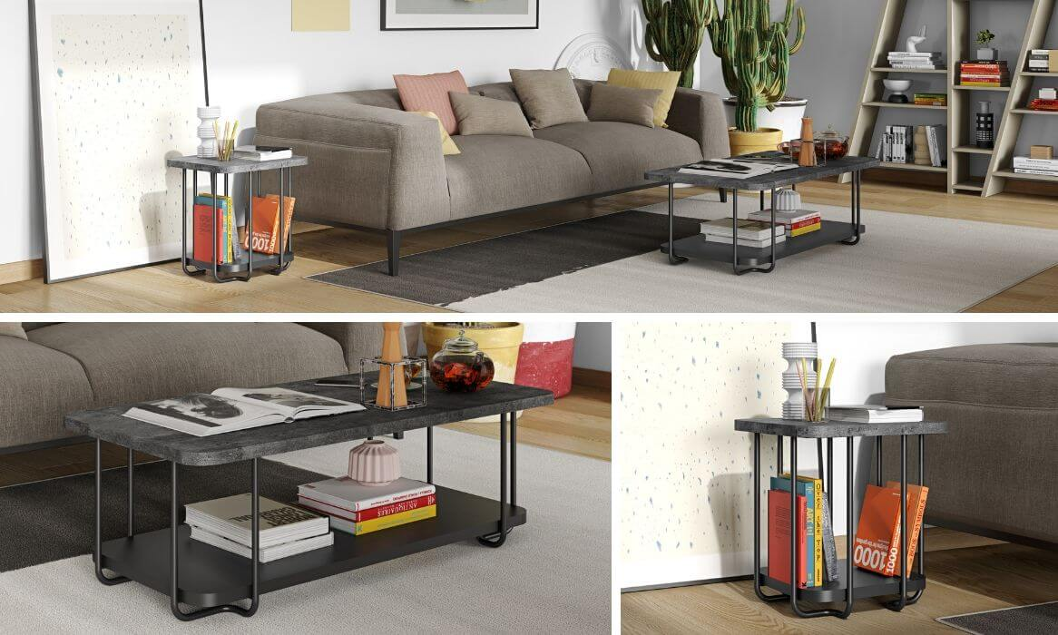 table basse tal kema home metal tubulaire zeeblog zeeloft