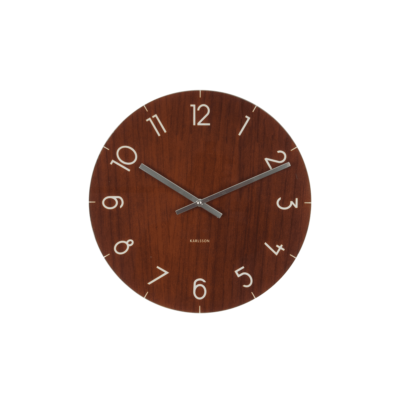 horloge glass wood d17 karlsson zeeloft