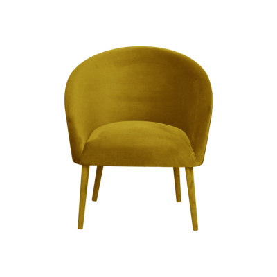 fauteuil plum velours jaune moutarde happy barok zeeloft