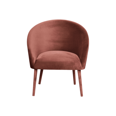 fauteuil plum velours rose happy barok zeeloft