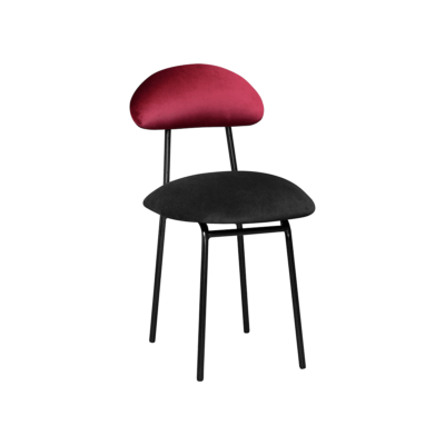 chaise plum noir rouge velours happy barok zeeloft