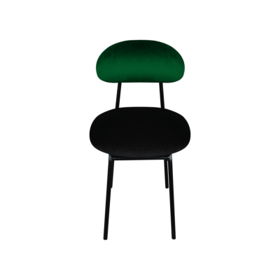 chaise plum noir vert velours happy barok zeeloft