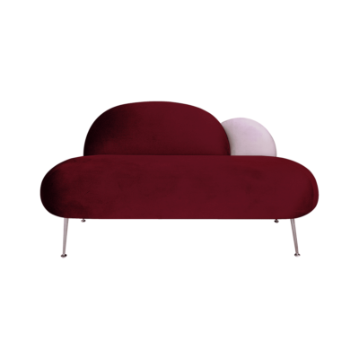 banquette plum velours rouge rose happy barok zeeloft