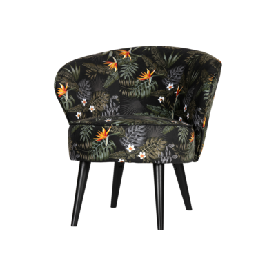 fauteuil bo velours tropical woood zeeloft 1