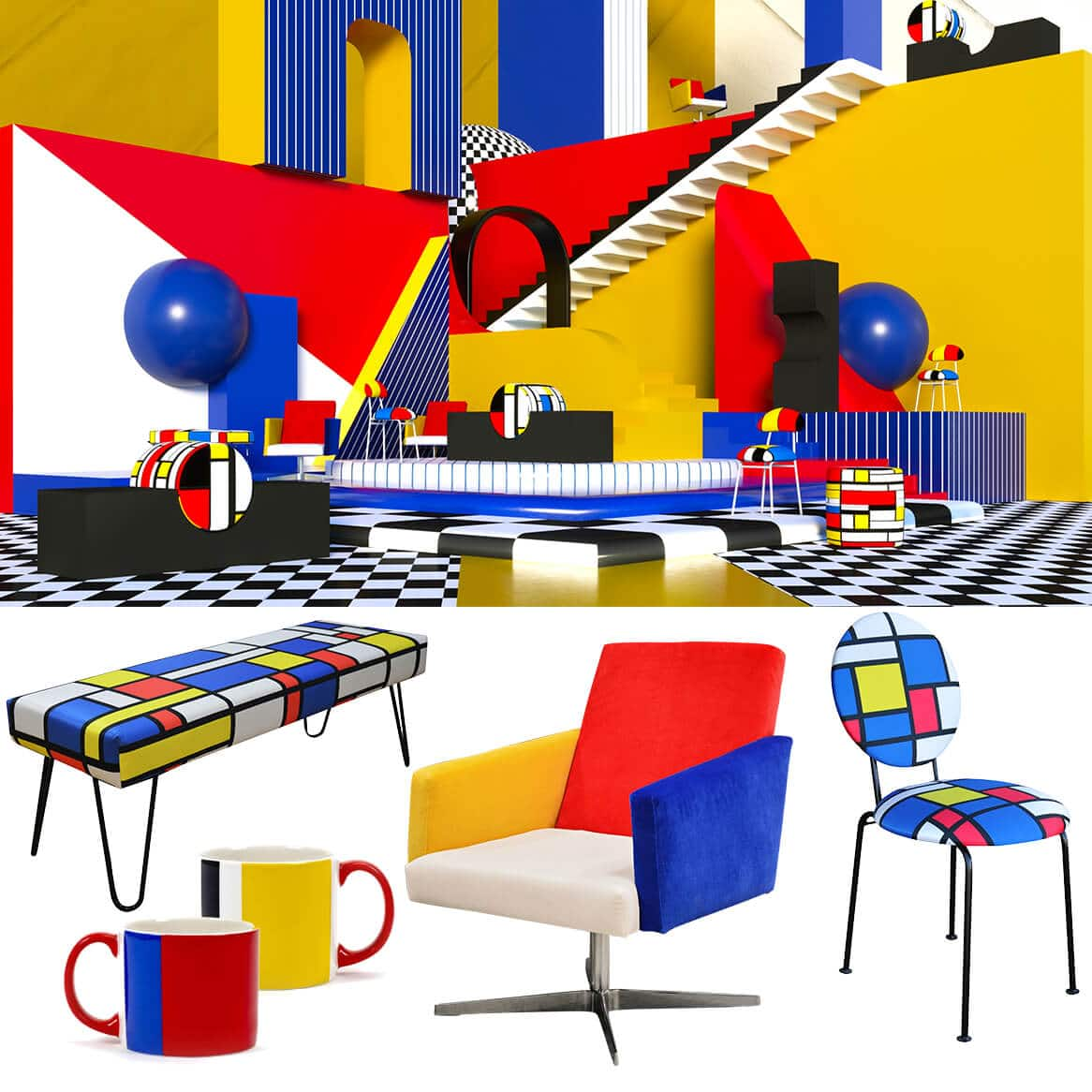 selection mondrian design colore zeeblog zeeloft
