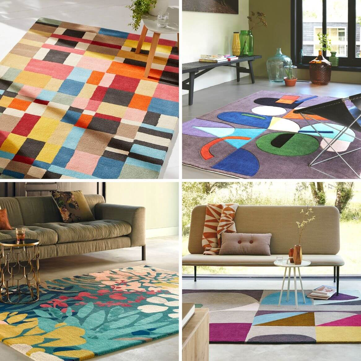 selection tapis design colore zeeblog zeeloft