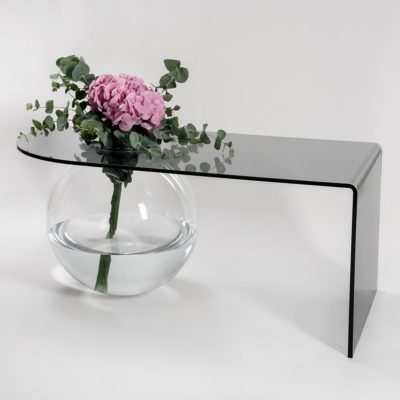 table basse boolla gris transparent iplex zeeloft