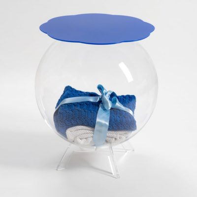 table de chevet boollino bleu transparent iplex zeeloft