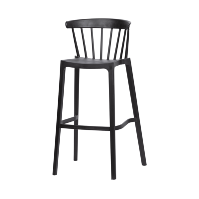 tabouret de bar bliss noir woood zeeloft