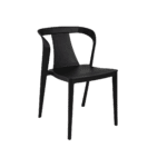 chaise alyssa noir bizzotto zeeloft