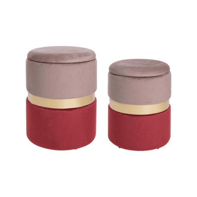 poufs coffre polina rose rouge bizzotto zeeloft