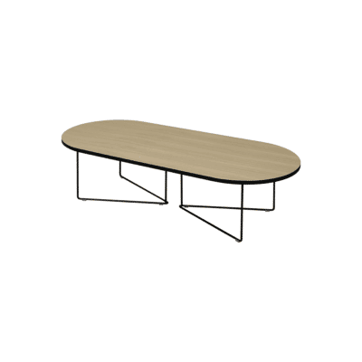 table basse oval chene tema home zeeloft