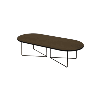 table basse oval noyer tema home zeeloft