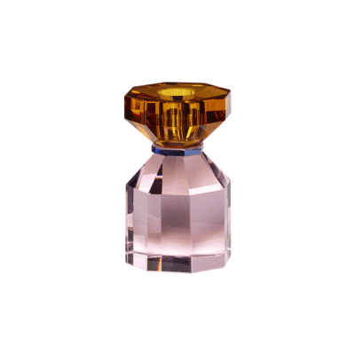 bougeoir diamond rose ambre hubsch zeeloft
