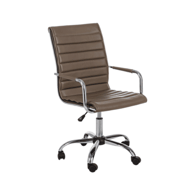 fauteuil de bureau perth marron bizzotto zeeloft