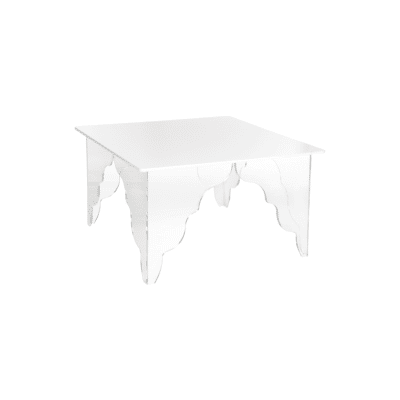 Table basse Ottino carree blanc iplex zeeloft
