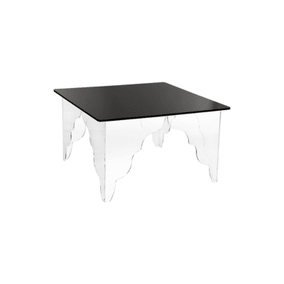 Table basse Ottino carree noir iplex zeeloft