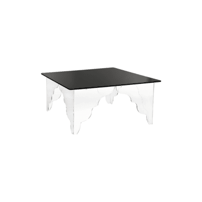 Table basse Ottino rectangle noir iplex zeeloft